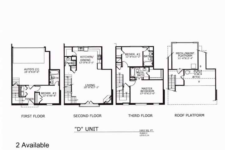 1,692 sq. ft. D floor plan