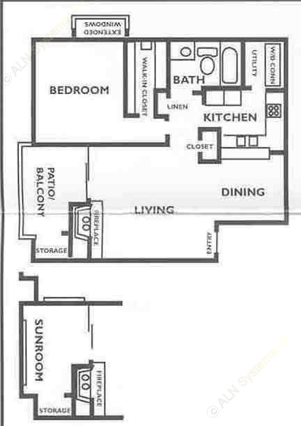 717 sq. ft. A4 floor plan