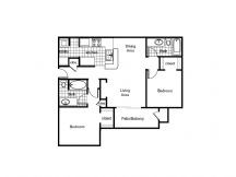 1,017 sq. ft. 60% floor plan