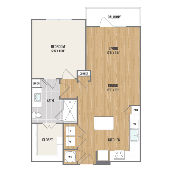 782 sq. ft. A5.2 floor plan