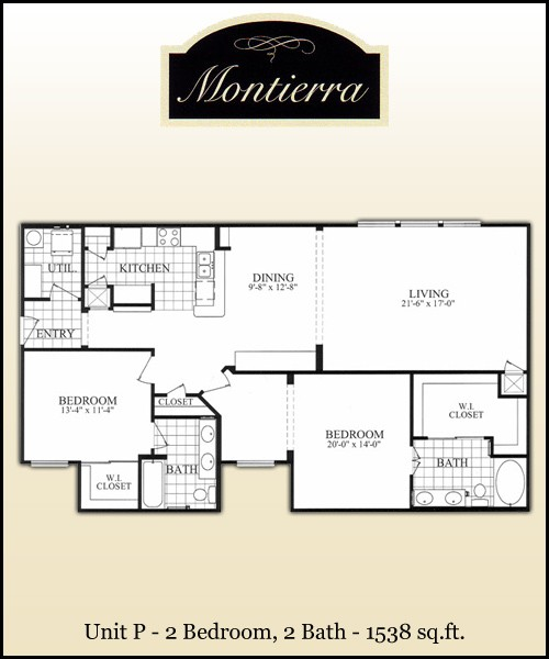 1,538 sq. ft. P floor plan