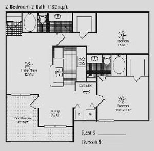 1,182 sq. ft. F floor plan
