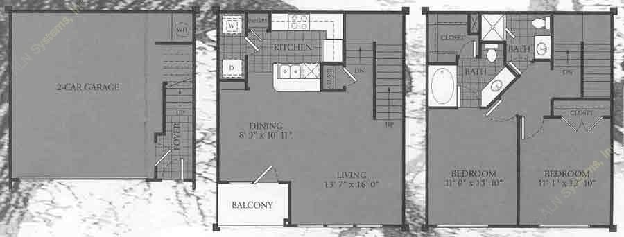 1,128 sq. ft. SAVANNAH floor plan