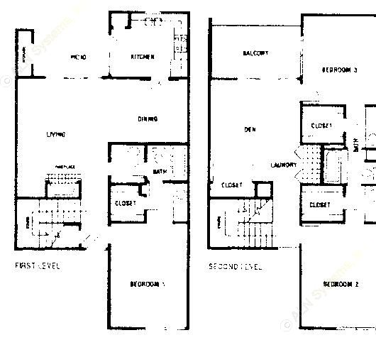 1,881 sq. ft. C1 floor plan