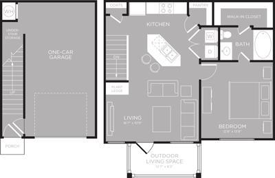 750 sq. ft. Erie floor plan