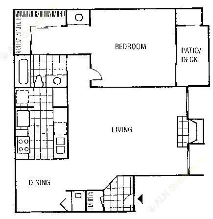 829 sq. ft. Whitney floor plan