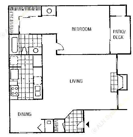 829 sq. ft. Whitney floor plan