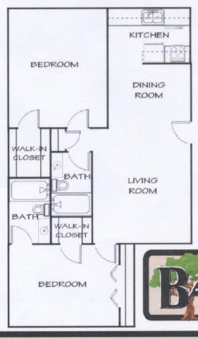 955 sq. ft. G floor plan