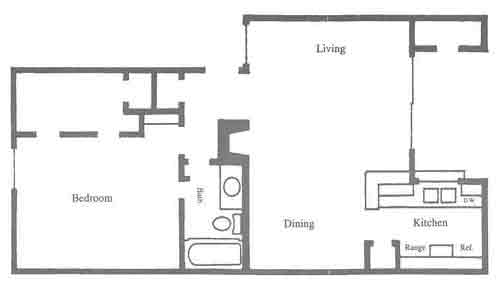 730 sq. ft. C2-C3 floor plan