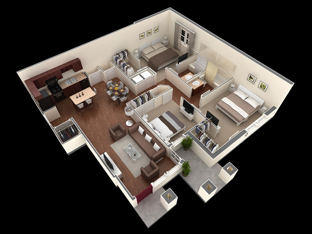 1,303 sq. ft. Rogers floor plan