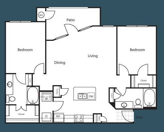 1,164 sq. ft. Montreal floor plan