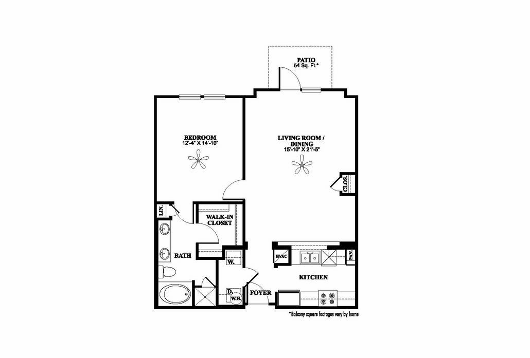 903 sq. ft. A2.1 floor plan