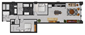 1,406 sq. ft. C5 floor plan