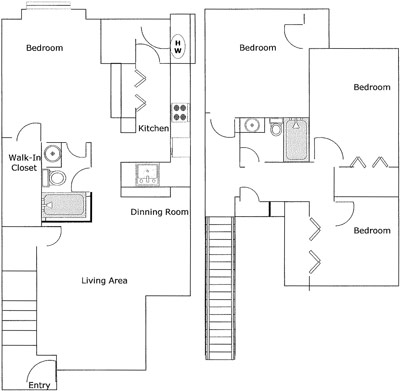 1,311 sq. ft. CRIOLLO 60% floor plan