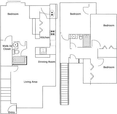 1,311 sq. ft. Criollo/50% floor plan
