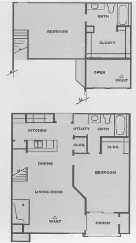 978 sq. ft. D3 floor plan