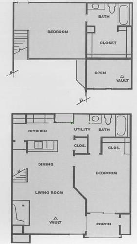 978 sq. ft. D3 floor plan
