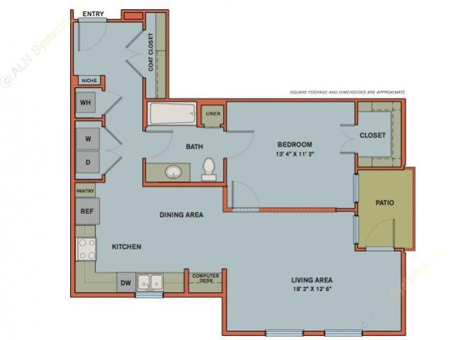 851 sq. ft. A10 floor plan