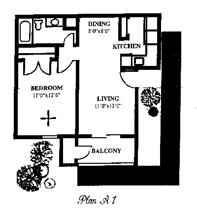 546 sq. ft. floor plan
