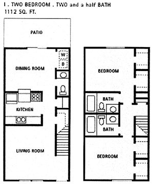 1,112 sq. ft. I floor plan