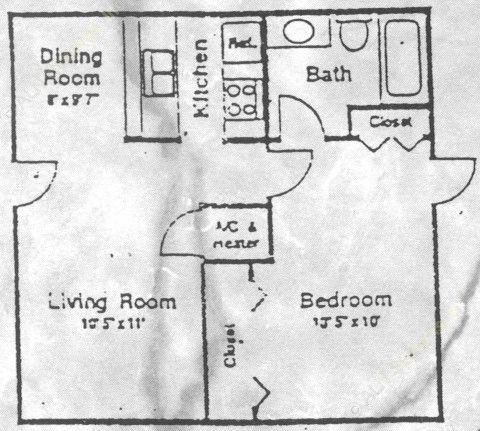 537 sq. ft. floor plan