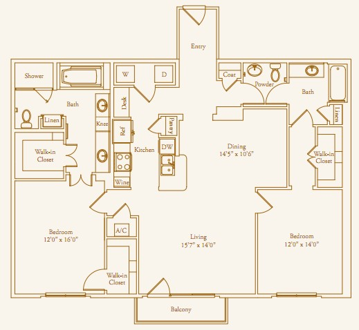 1,479 sq. ft. Willowick Alt floor plan