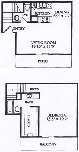 925 sq. ft. A4 floor plan