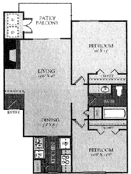 788 sq. ft. Mkt floor plan