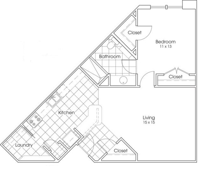 810 sq. ft. Longhorn floor plan
