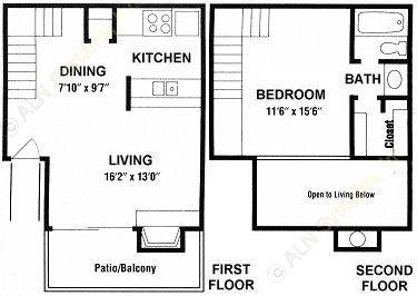 700 sq. ft. A4 floor plan
