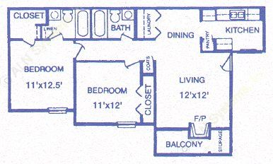 839 sq. ft. Keystone floor plan