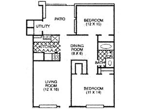 721 sq. ft. A floor plan