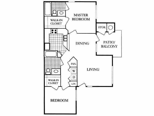 976 sq. ft. 50% floor plan