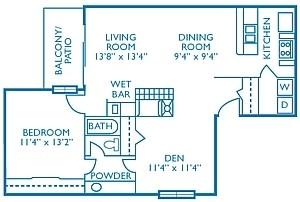 918 sq. ft. Bermuda floor plan