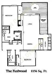 1,156 sq. ft. G floor plan