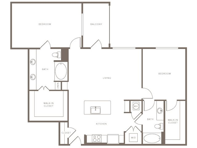 1,339 sq. ft. B3 floor plan