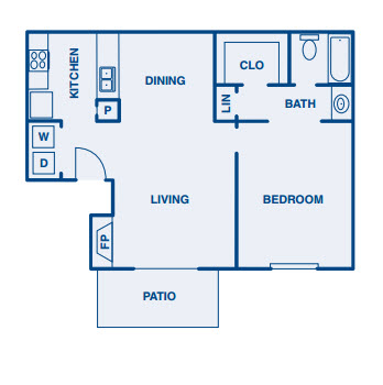 500 sq. ft. A floor plan