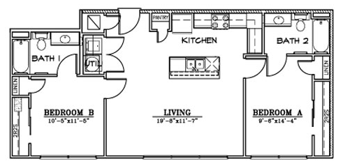 949 sq. ft. B9 floor plan