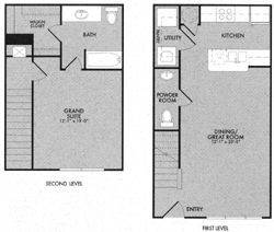 840 sq. ft. 60% floor plan