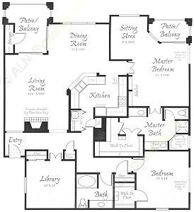 1,957 sq. ft. C1 floor plan
