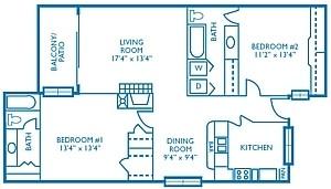 1,169 sq. ft. Championship floor plan