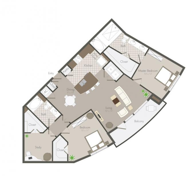 1,326 sq. ft. Tyne floor plan