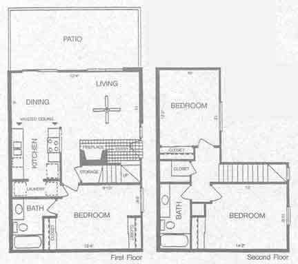 1,200 sq. ft. DENALI floor plan