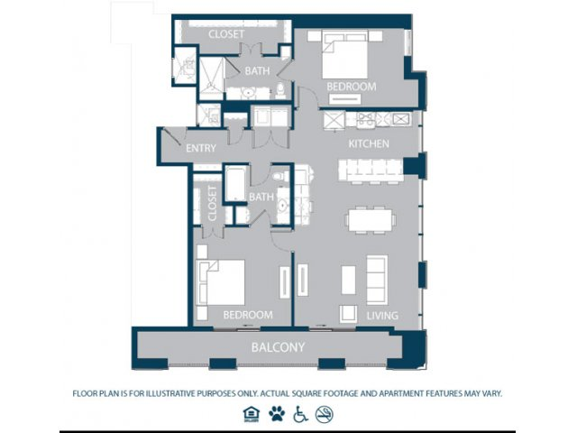 1,442 sq. ft. B5 floor plan