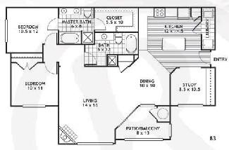 1,296 sq. ft. B3/ODESSA floor plan