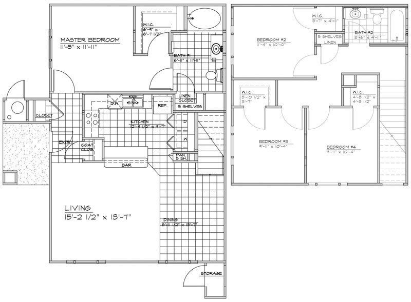 1,469 sq. ft. Ventana/60% floor plan