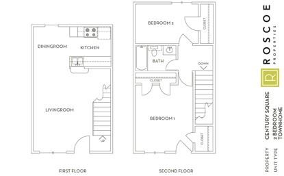 855 sq. ft. F floor plan