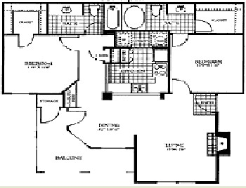 997 sq. ft. GRANITE floor plan