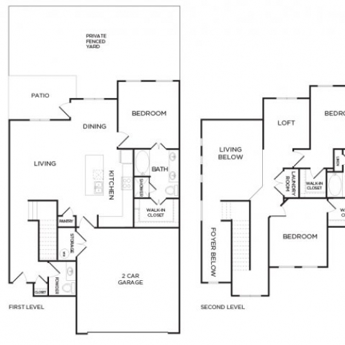 1,797 sq. ft. C1 floor plan