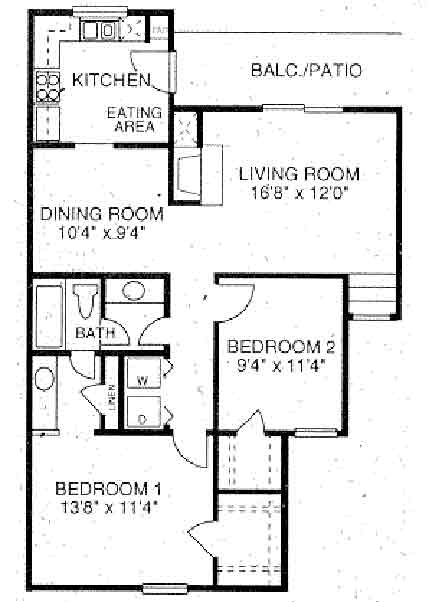 1,189 sq. ft. B4 floor plan
